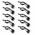 10Pcs DC 5.5x2.1mm 1 Female to 4 Male Power Splitter Cable For CCTV 0.37M Copper