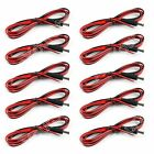 10x DC 5.5x2.1mm Male Plug 22AWG Power Pigtail Cable For Security Camera 1.5M