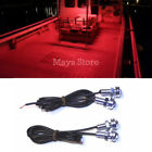 4x Red LED Boat Light Waterproof 12v  ~ Bow /  Stern Safety Lights