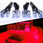 4x Red LED Boat Light Waterproof 12v Deck Storage Bow Stern Port Starboard