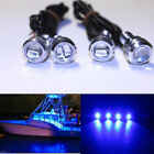 4x Blue LED Boat Light Silver Waterproof Underwater For Honda Aquatrax R-12X