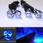 4x Blue LED Boat Light Silver Underwater For KAWASAKI STX-15F Jet Ski