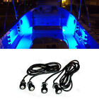 4x Blue LED Boat Light Waterproof 12v Courtesy Bow Trailer Pontoon Ft