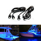 4x Blue LED Boat Light Waterproof 12v Deck Storage Kayak Bow Trailer Bass Aqua