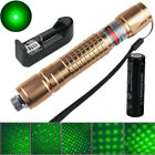 10 miles Powerful Green Laser Pointer Pen 5MW 532nm 018 18650 Battery & Charger