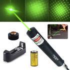 10Miles 532nm 1MW Green Beam Light Hunting Teacher Pointer pen Battery Set