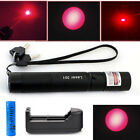 650nm 10Miles Red Laser Pointer Visible Beam Light +18650+Charger New