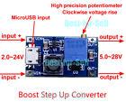 DC-DC USB 3~24V to 5V~28V 12V 2A Boost Step Up Adjustable Regulator Power Module