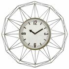 Aspire Home Accents Kaylin Metal 28 in. Wall Clock, Silver