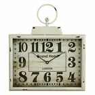 Aspire Home Accents Darcy Rectangular Wall Clock, Distressed White
