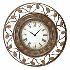 Aspire Home Accents Decorative Iron 36 in. Wall Clock, Brown