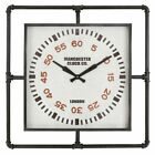 Aspire Home Accents Sanford Industrial 27.5 in. Wall Clock, Black