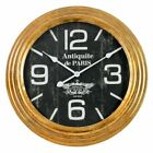 Aspire Cadence Round 24 in. Wall Clock, Distressed Gold Leaf