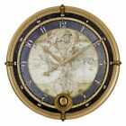 Aspire Ramona Old Map 23 in. Wall Clock, Blue and Gold