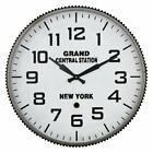 Aspire Grand Central Station 23 in. Wall Clock, Dark Gray