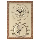Sun & Moon 10 in. Wide Thermometer Wall Clock, 10 in.