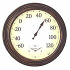 Chaney Classic All-In-One Outdoor 16 in. Wall Clock
