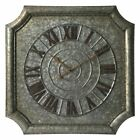 Infinity Instruments Stamped Metal Wall Clock, Galvanized