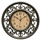Infinity Instruments Sofia 12 in. Wall Clock, Brown