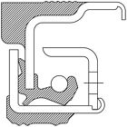 Wheel Seal Front Inner NATIONAL 370199A
