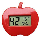 Apple Shaped Digital LCD Display Thermometer Hygrometer Temperature Humidity Red