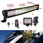32inch Led Light Bar Combo Curved +2X 4INCH Flood LED Pods Ford Offroad 4x4