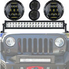 "7"" INCH Led Headlights Front Amber Turn Signal Lamp 32inch Light Bar for Jeep JK"