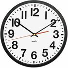 Universal Deluxe Large Numeral Clock, 13', Black Frame, White Face
