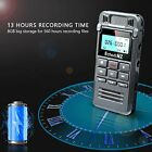 8GB Digital Voice Recorder Sound Audio Dictaphone Double Mic Meetings Lecture