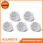 "5PC 2"" Round Led Marker Light Clear/Amber 9LED w Flower Petal Look Trailer Light"