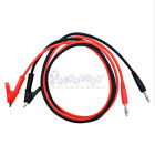4mm Banana Plug Probe Cable to Alligator Test Lead Clip For Multimeter US SHIP