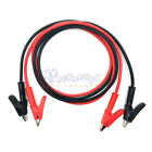 Long Alligator Clip 15A Electrical Clamp Insulated Test Lead Cable Pair US