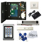 1 Door Security Entry Systems Kit & Metal Waterproof Keypad Reader Magnetic Lock