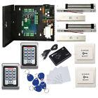 2 Door Entry Control Systems Kit & Metal Waterproof Keypad Reader Magnetic Lock