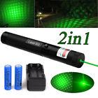 10Miles 532nm G303 Green Light Beam Zoomable Laser Pointer Pen 18650 Battery