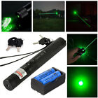 10Miles 532nm 303 Green Light Lazer Zoom Focus Laser Pointer Pen Battery Set