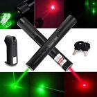 10Miles 532nm Green&650nm Red Beam Light Power Laser Pointer Pen New