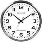 La Crosse Technology(R) 404-1220 20 Brushed Aluminum Atomic Wall Clock