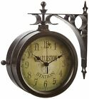 """Infinity Indoor/Outdoor 8"""" The Charleston Double Sided Clock & Thermometer.."""