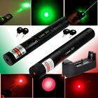 10Miles Range Green&Red 1MW Visible Beam Portable Laser Pointer Lazer &Charger