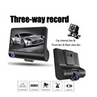 1080P HD 3Lens Car DVR Dash Cam Cars H.264 Video Recorder Rearview Camera 4 Inch