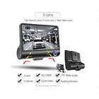 4'' HD 1080P 3 Lens Car Dvrs Recorder Cam Vehicle Dash Rearview Camera Video