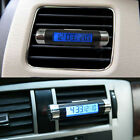 2 in 1 Car Time Clock Thermometer Digital LCD Display Outlet Auto Accessories