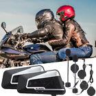 Motorcycle Bluetooth Interphone Helmet Intercom BT Headset GPS Waterproof 1200M