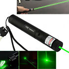 Green Laser Pointer Pen Safety Key Anodized Black 18650 Battery Touch Switch