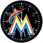 MIAMI MARLINS Black Frame Wall Clock Nice For Decor or Gifts F85