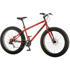 """NEW 26""""Mongoose Hitch Adventure Fat Tire Men's 7-speed Mountain Bike Bicycle Red"""