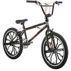 20 in. Black Mongoose Rebel Freestyle Boys BMX Bike Rugged Steel Frame Bicycle