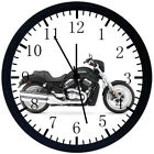 American Motorcycle Black Frame Wall Clock Nice For Decor or Gifts E333