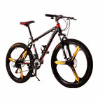 """2018 NEW Style Men's 26"""" Mountain Bike Cycling 21 SP Double Disc Brake BLACK+RED"""